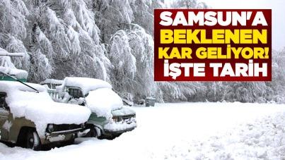 Samsun'a beklenen kar geliyor! İşte tarih