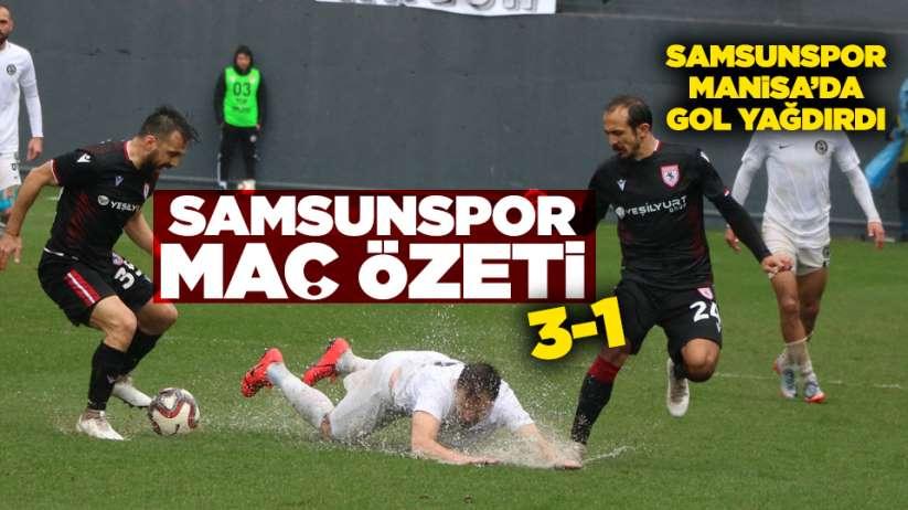 Samsunspor Manisa FK maç özeti! Samsunspor gol yağdırdı