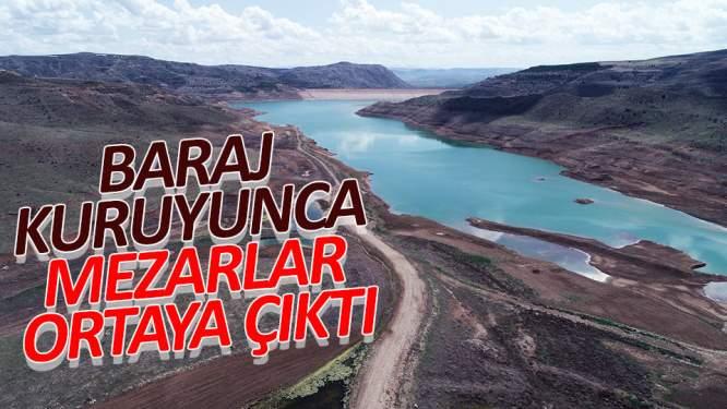 Baraj kuruyunca mezarlar ortaya çıktı