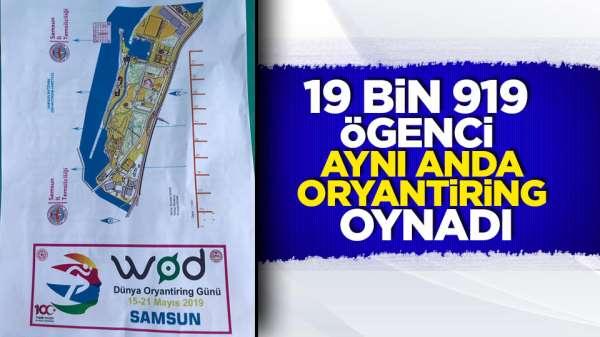Samsun'da 19 bin 919 öğrenci oryantiring oynadı