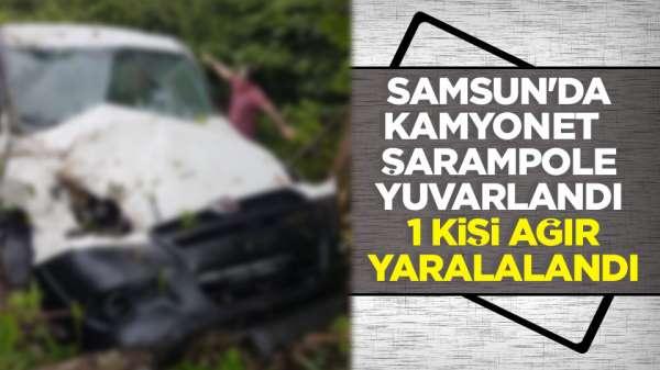 Samsun'da kaza :1 yaralı SON DAKİKA