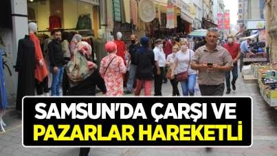 Samsun'da çarşı ve pazarlar hareketli