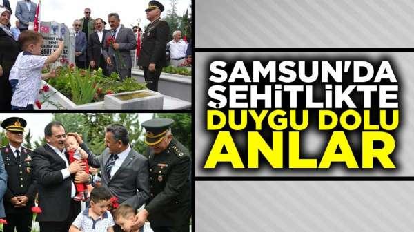 Samsun'da Protokol Şehitlikleri ziyaret etti
