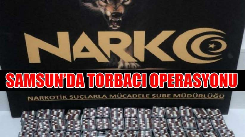 Samsunda torbacılara operasyon: 9 gözaltı