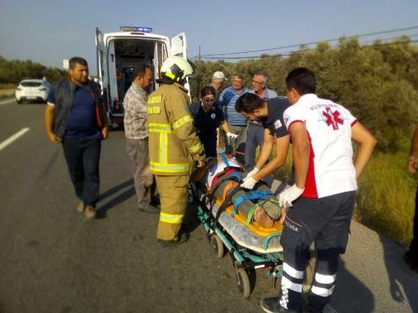 Havran'da trafik kazası: 1 yaralı