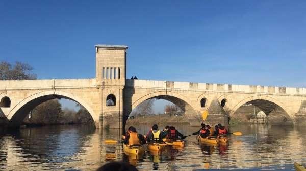 Trakya Üniversitesi Yelken ve Kürek Topluluğu'ndan Meriç ve Tunca'da kano etkinl