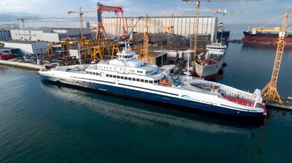 Dünyanın en büyük elektrikli feribotu Norveç sularında