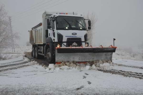 Kahramankazan'da karla mücadele teyakkuzu