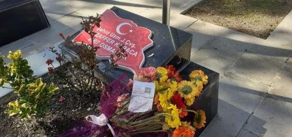 Şehit mezarında duygulandıran doğum günü mesajı: Seni çok seviyorum koca çınarım