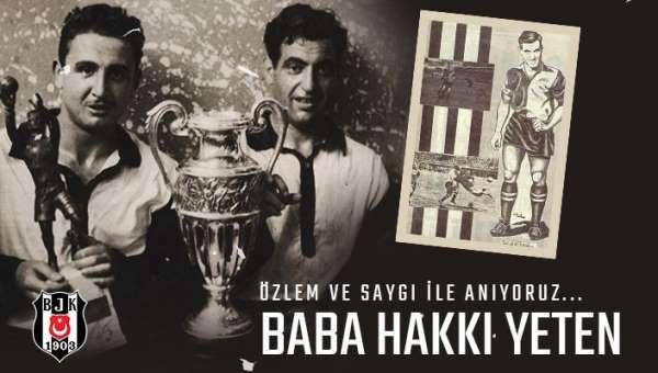 Beşiktaş, Baba Hakkı'yı andı