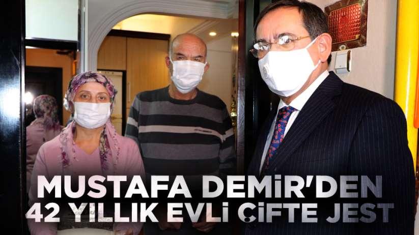 Mustafa Demir'den 42 yıllık evli çifte jest