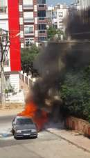 Antalya'da alev alan otomobilde arka arkaya patlamalar oldu