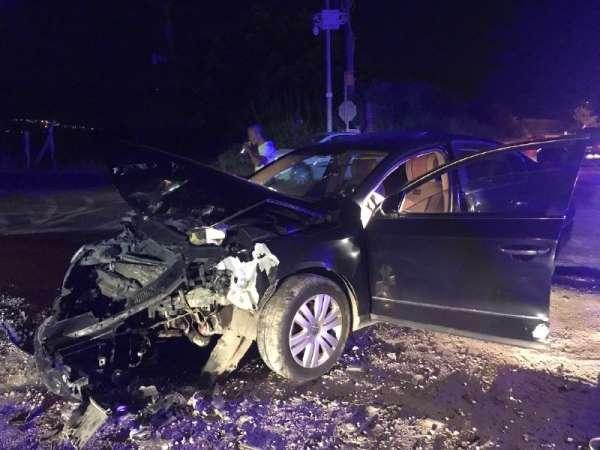 Davutlar'da trafik kazası, 1 yaralı