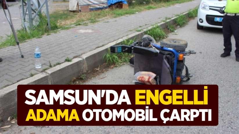 Samsun'da engelli adama otomobil çarptı
