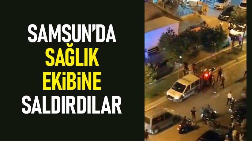 112 ambulans ekibi bıçaklı saldırıya uğradı!