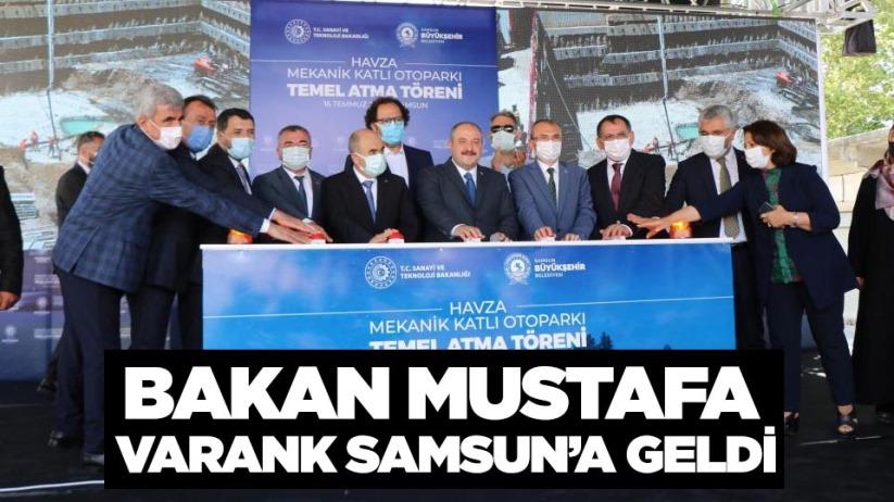 Bakan Mustafa Varank Samsuna geldi