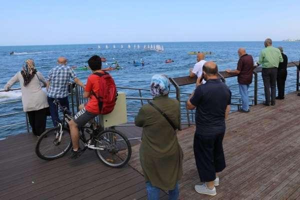 Karadenizde yelken ve kano şöleni