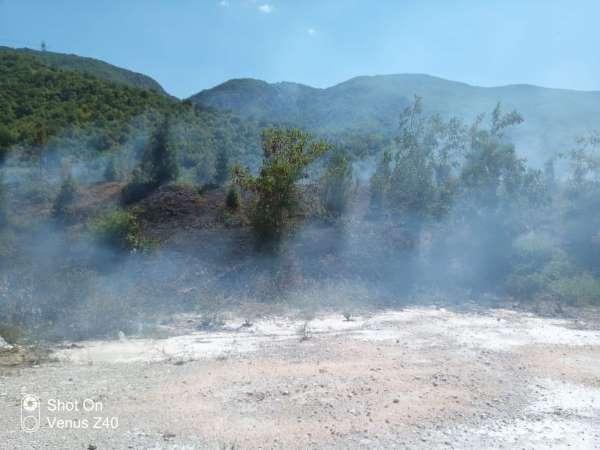 Tokatta, ot yangını ormanlık alana sıçramadan söndürüldü