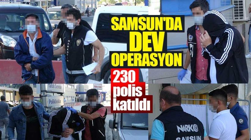 Samsun'da 203 polis operasyon düzenledi