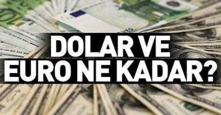 16 Ekim Çarşamba Samsun'da Dolar ve Euro fiyatları güncel fiyatlar