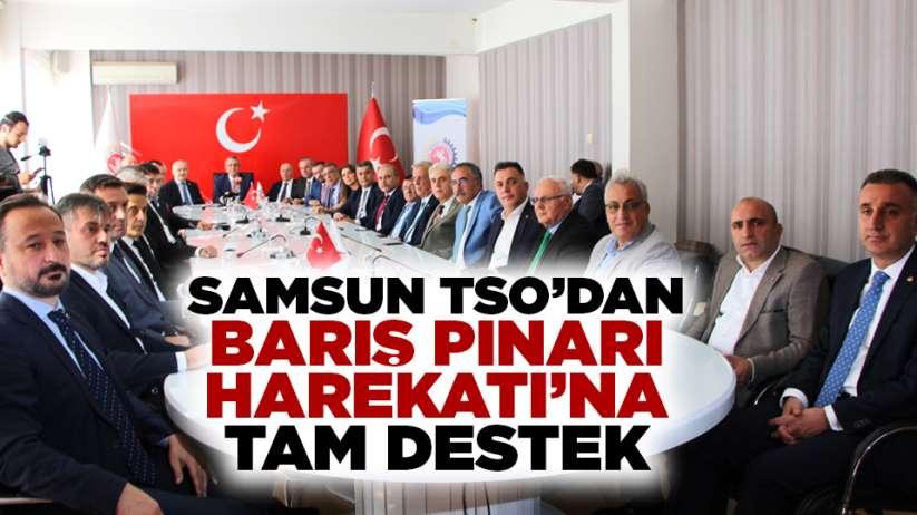 Samsun TSO'dan Barış Pınarı Harekatı'na tam destek