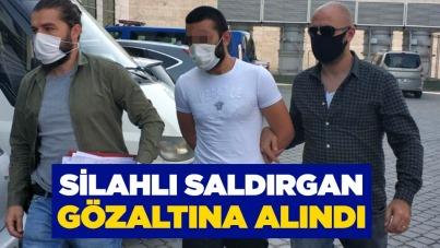 Samsun'da silahlı saldırgan gözaltına alındı