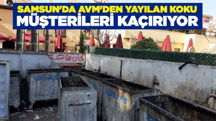 Samsun'da AVM'den yayılan koku müşterileri kaçırıyor