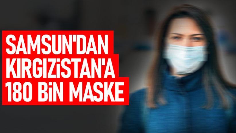 Samsun'dan Kırgızistan'a maske yardımı