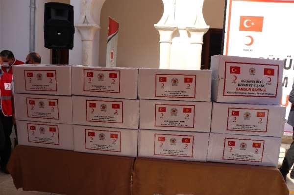 Samsun'dan Kırgızistan'a 180 bin adet maske