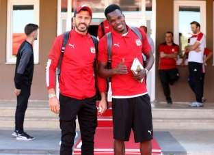 Sivasspor kafilesi Kayseri'ye gitti