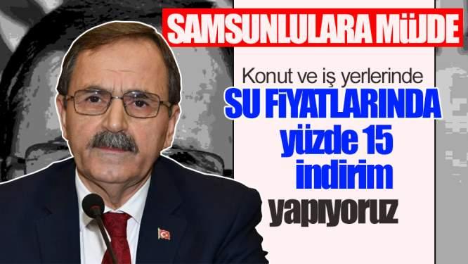 Başkan Açıkladı, Samsun'da 'su'ya İndirim