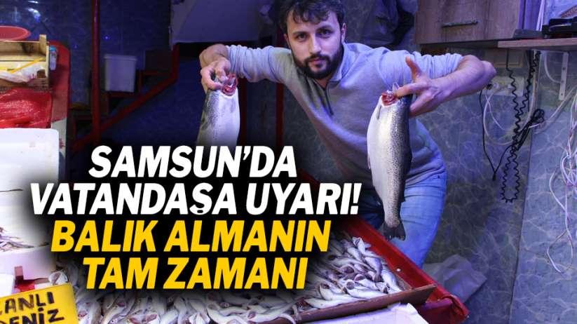 Samsun'da vatandaşa uyarı! Balık almanın tam zamanı