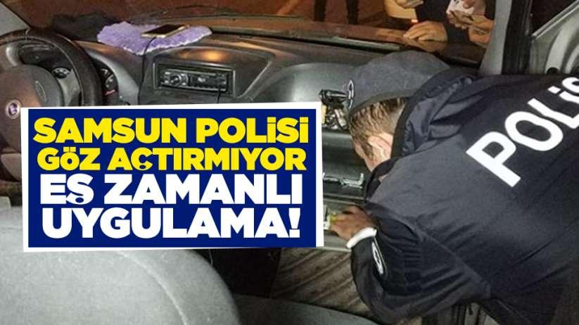 Samsun'da eş zamanlı Narkotik Uygulaması!