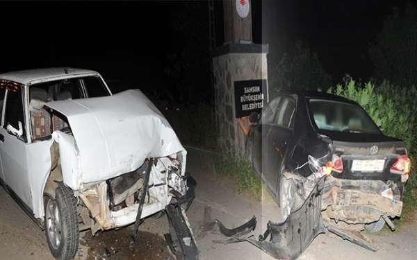Samsun'da Kuş Cenneti yolunda kaza