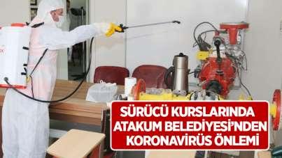 Sürücü kurslarında Atakum Belediyesi'nden koronavirüs önlemi