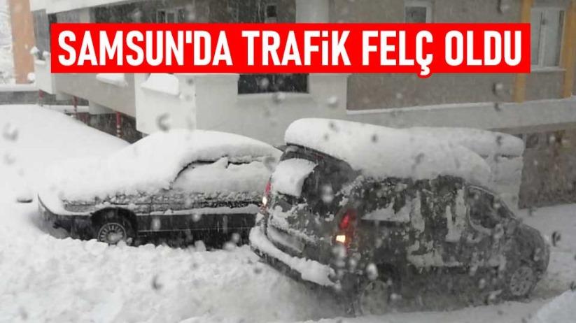 Samsun'da trafik felç oldu