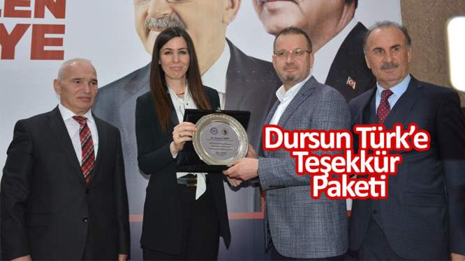 Dursun Türk'e teşekkür paketi