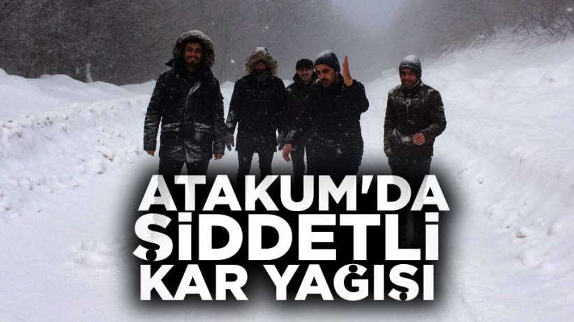 Atakum'da şiddetli kar yağışı