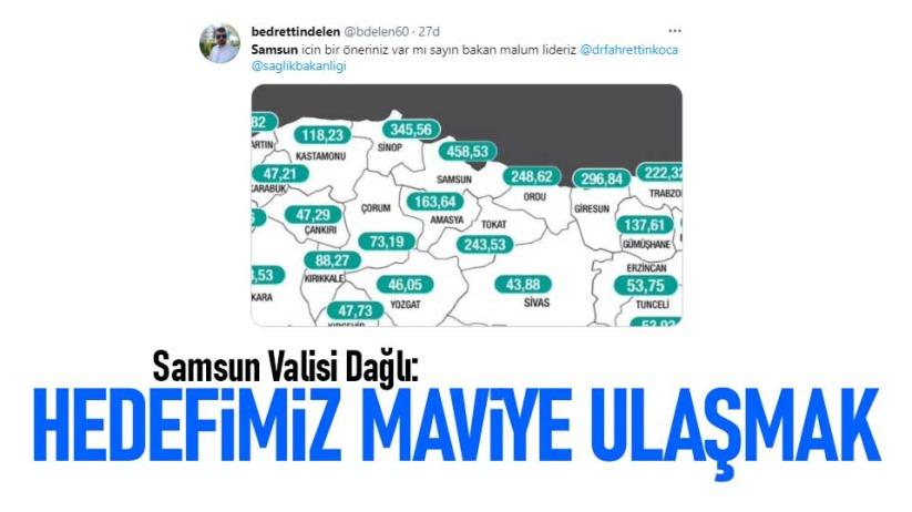 Samsun Valisi Dağlı: Hedefimiz maviye ulaşmak