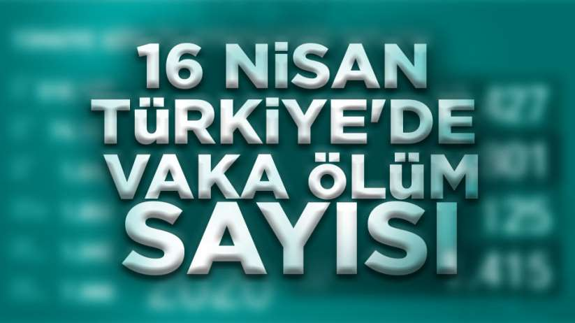 16 Nisan Türkiye'de vaka ölüm sayısı