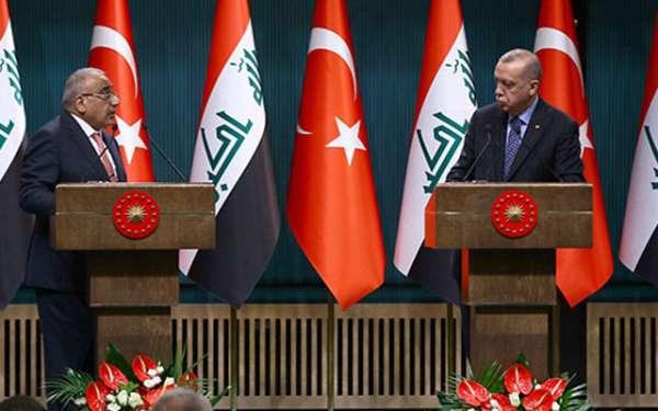 Erdoğan ile Abdulmehdi basın toplantısı düzenledi