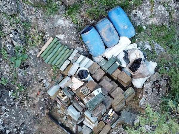 MSB: 'PKK'lı teröristlere ait bir depoda çok sayıda mühimmat ele geçirildi'