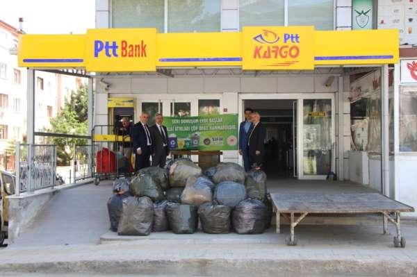 PTT Amasya Başmüdürlüğü'nden 'Sıfır Atık Projesi'ne destek