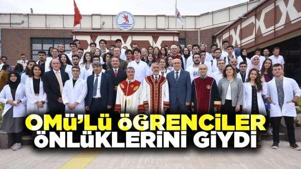 Samsun'da OMÜ'lü öğrenciler önlüklerini giydi