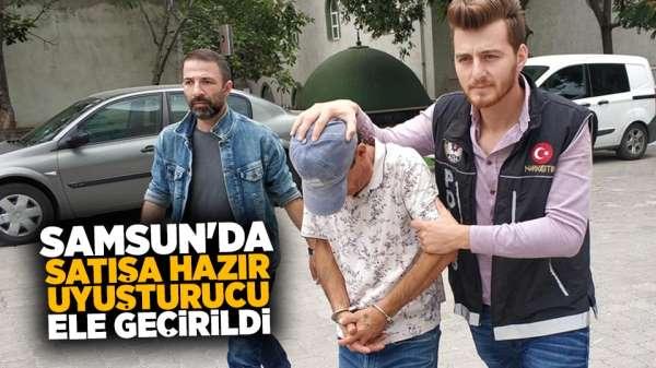 Samsun'da satışa hazır uyuşturucu ele geçirildi