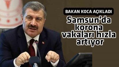Samsun'da korona vakaları hızla artıyor