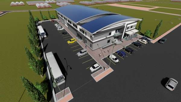 Kaş Ova Spor Salonu inşaatı devam ediyor
