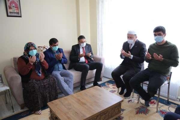 Vali Ali Çelik'ten şehit ailesine ziyaret
