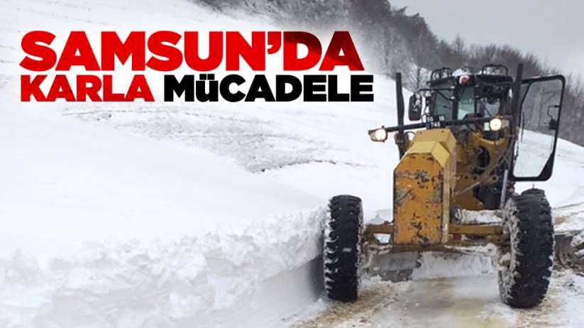 Samsunda karla mücadele