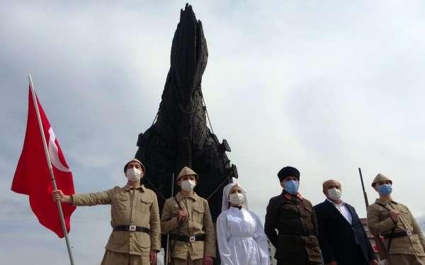 Çanakkale Deniz Zaferinin 106ncı yılında şehitler anısına 106 dakikalık saygı nöbeti